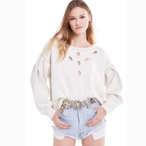 Wildfox The Rancho Sweater Ivory Off White